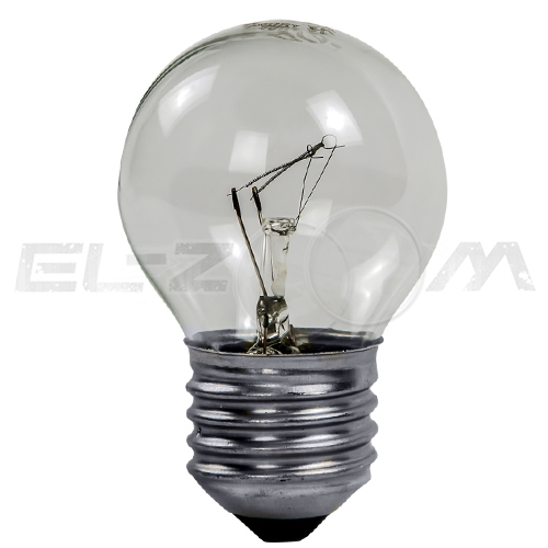 Лампа накаливания ШАР ASD P45 40Вт E27 прозрачная