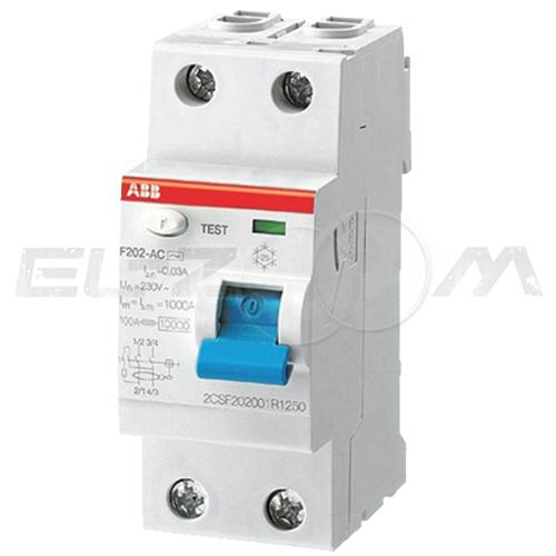 Устройство защитного отключения ABB F202 2п 25А 100мА AC