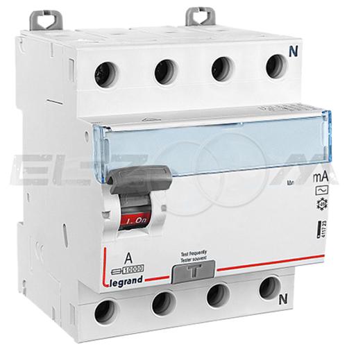 Устройство защитного отключения Legrand DX3 4п 40А 100мА AC