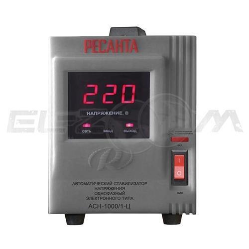 Стабилизатор напряжения однофазный 1000Вт электронного типа Ресанта ACH-1000/1-Ц