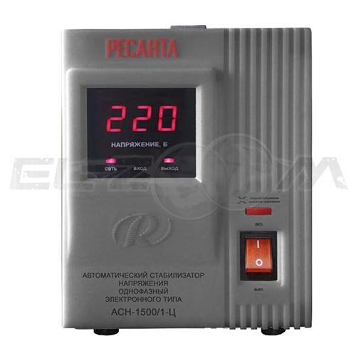Стабилизатор напряжения однофазный 1500Вт электронного типа Ресанта ACH-1500/1-Ц