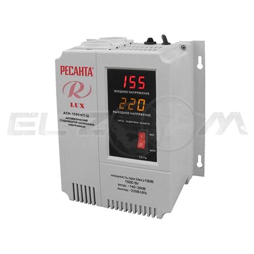 Стабилизатор напряжения однофазный 1500Вт цифровой настенный Ресанта ACH-1500Н/1-Ц