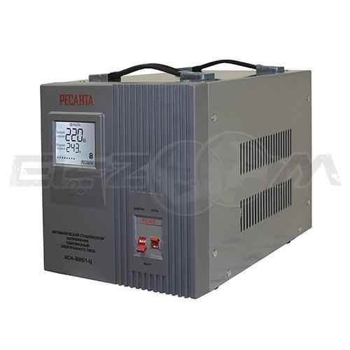Стабилизатор напряжения однофазный 3000Вт электронного типа Ресанта ACH-3000/1-Ц
