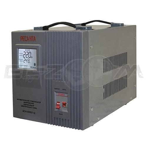 Стабилизатор напряжения однофазный 8000Вт электронного типа Ресанта ACH-8000/1-Ц