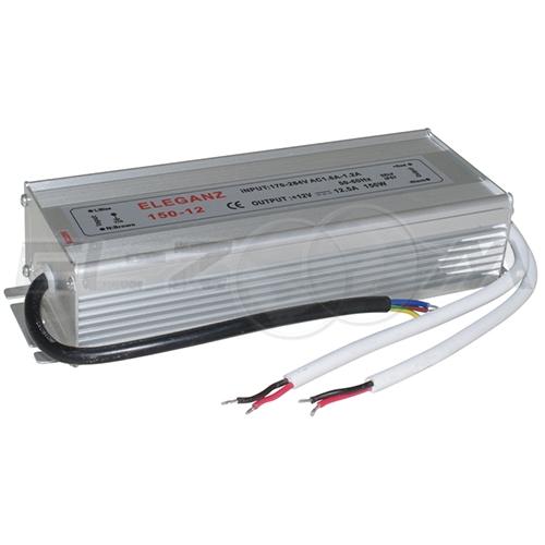 Блок питания (трансформатор) 220-12В, 150Вт, IP67 для светодиодных лент