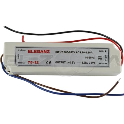Блок питания (трансформатор) 220-12В, 60Вт, IP67 для светодиодных лент