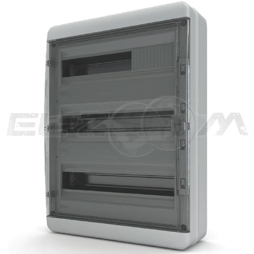 Бокс Tekfor серия B IP65 навесной 54М с прозрачной дверцей, серый