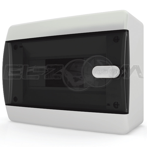 Бокс Tekfor серия C навесной 8М с прозрачной дверцей, белый