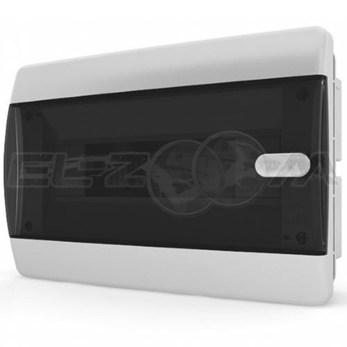 Бокс Tekfor серия C в нишу 12М с прозрачной дверцей, белый