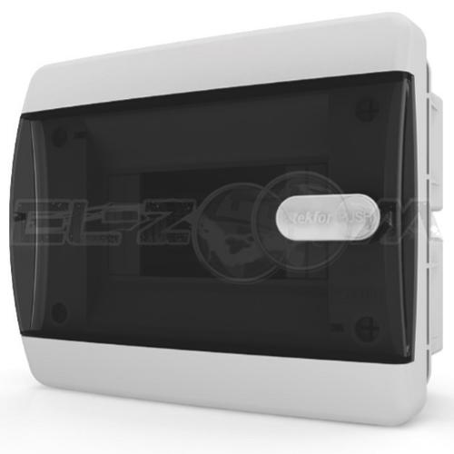 Бокс Tekfor серия C в нишу 6М с прозрачной дверцей, белый