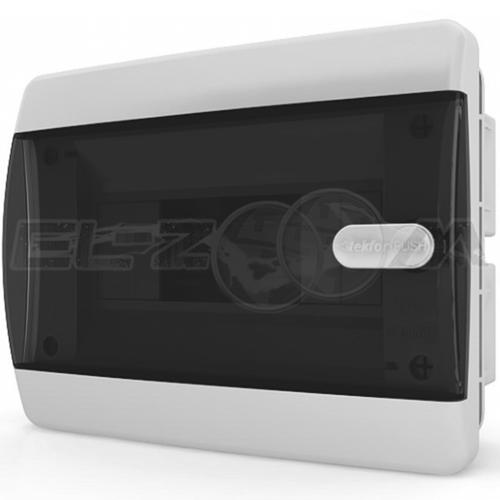 Бокс Tekfor серия C в нишу 8М с прозрачной дверцей, белый