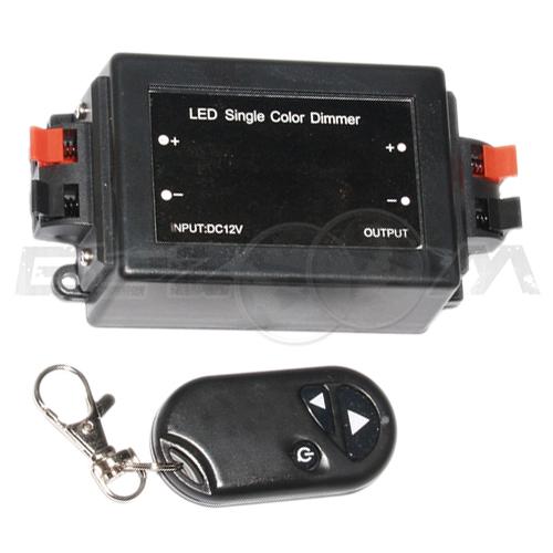Диммер LED с радиопультом 8A 12/24В