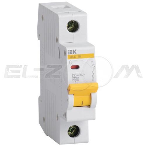 Автоматический выключатель IEK ВА47-29 1п C25 4,5кА