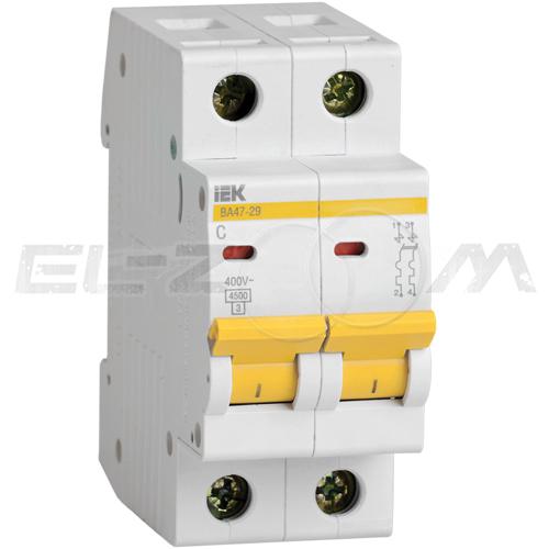 Автоматический выключатель IEK ВА47-29 2п C40 4,5кА