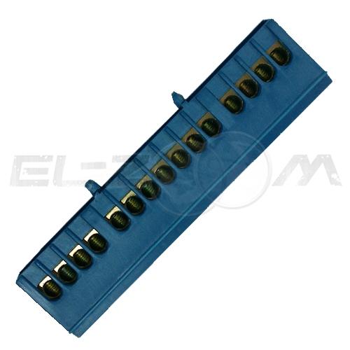 """Шина """"0"""" соединительная 15 контактов в кожухе на DIN-рейку"""