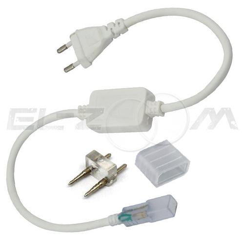 Комплект подключения одноцветной ленты 10мм SMD 5050 IP68, 220В