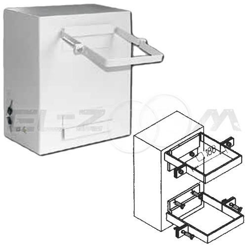 Комплект крепежа распределительного щита на столб (квадратные скобы)