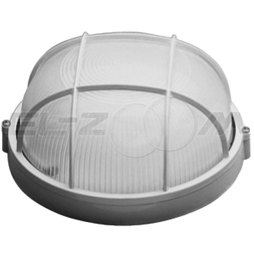 Банный светильник круглый 60Вт с решеткой IP54 c цоколем E27