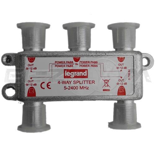 """TV делитель """"краб"""" Legrand 4ТВ 5-2400МГц"""