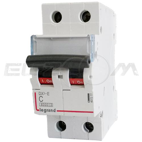 Автоматический выключатель Legrand DX3-E 2п C16 6кА