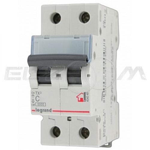 Автоматический выключатель Legrand TX3 2п C40 6кА