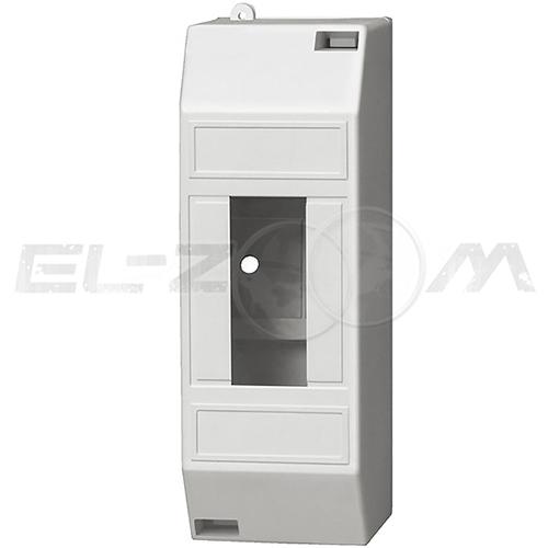 Бокс (оболочка) 2 модуля пластиковый белый (пластиковая DIN-рейка)