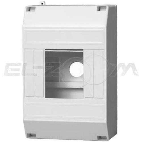 Бокс (оболочка) 4 модуля пластиковый белый (пластиковая DIN-рейка)