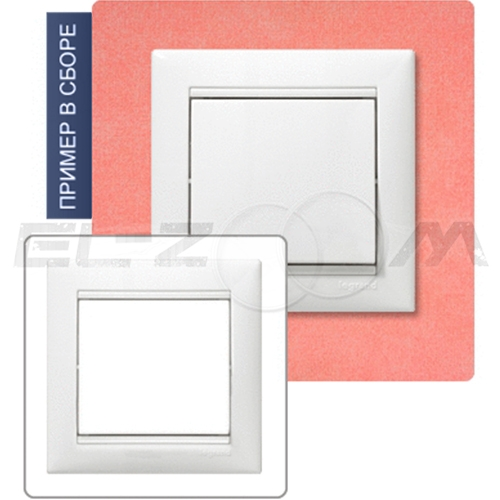Рамка 3-я (постовая) Legrand Valena белый