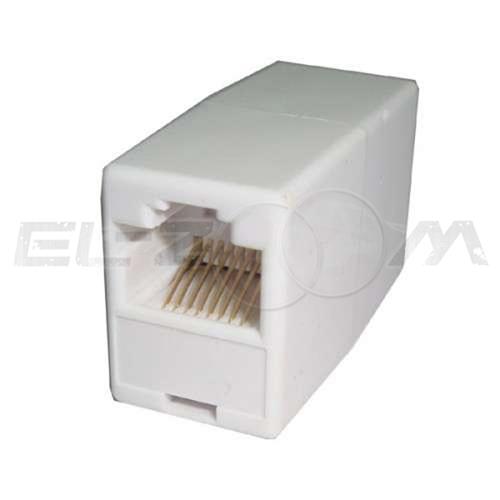 Компьютерный переходник, гнездо-гнездо 8P-8C, белый REXANT