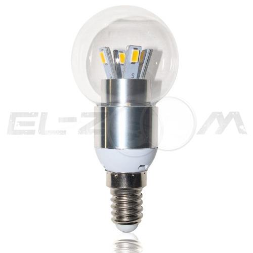 Лампа светодиодная ШАР Eleganz 5Вт 3000K E14 220В прозрачное стекло