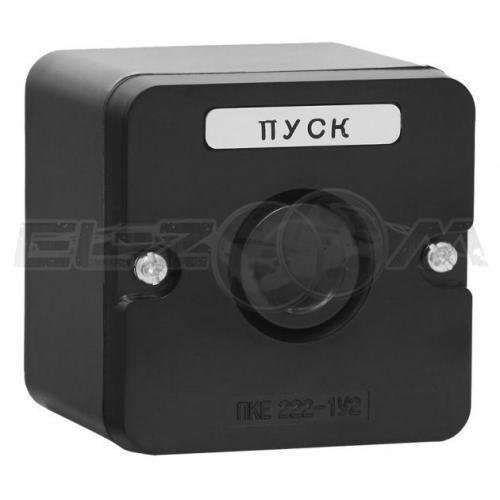 Пост кнопочный ПКЕ 222-1 1 кнопка черная IP54 TDM