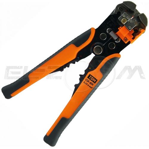 Инструмент для зачистки кабеля 0,2 - 6,0 кв.мм и обжима наконечников