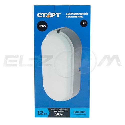 Светильник светодиодный овальный СТАРТ BL 12Вт 178*86мм 6000K IP65