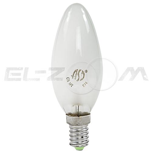 Лампа накаливания СВЕЧА ASD P45 40Вт E14 матовая