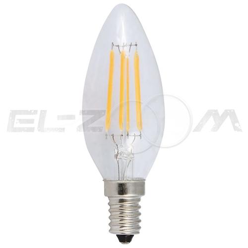 Лампа светодиодная нитевидная СВЕЧА Eleganz 5Вт 2700K E14 220В прозрачное стекло