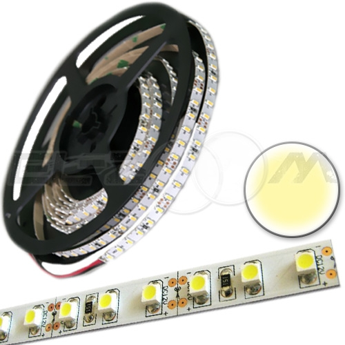 Светодиодная лента SMD 3528 IP20, 12В 9,6Вт/м L120 белый (теплый) (5м.)