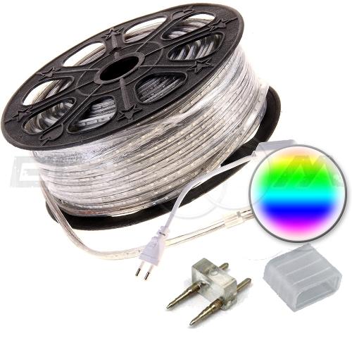 Светодиодная лента SMD 5050 IP68, 220В 14,4Вт/м L60 RGB