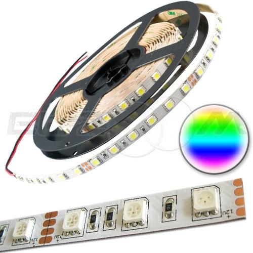 Светодиодная лента SMD 5050 IP20, 12В 14,4Вт/м L60 RGB (5м.)