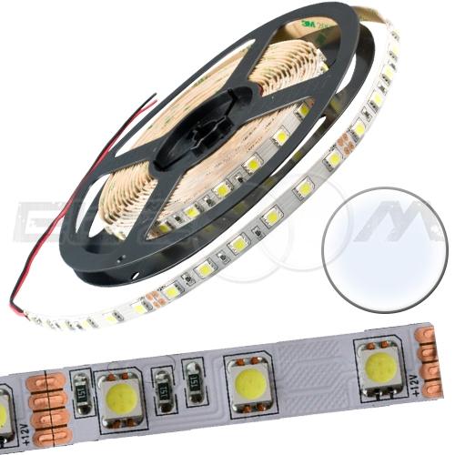 Светодиодная лента SMD 5050 IP20, 12В 14,4Вт/м L60 белый (холодный) (5м.)