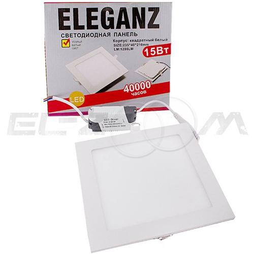 Светодиодная панель квадратная Eleganz 15Вт 230В 3000К 1200Лм IP33