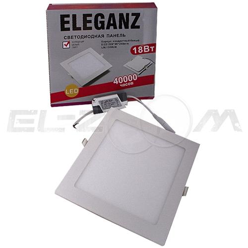 Светодиодная панель квадратная Eleganz 18Вт 230В 3000К 1440Лм IP33