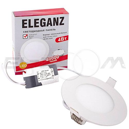 Светодиодная панель круглая Eleganz 4Вт 230В 3000К 350Лм IP33