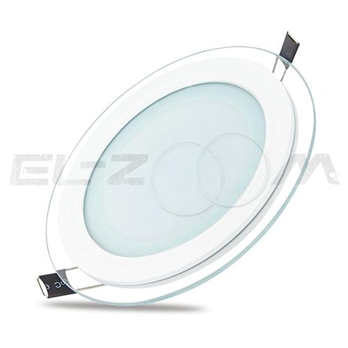 """Светодиодная панель круглая """"Стекло"""" Siesta Light 6Вт 230В 3000К 400Лм IP22"""