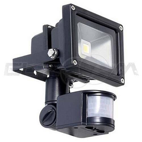 Светодиодный прожектор с датчиком движения Ledray 10Вт IP65 375Лм