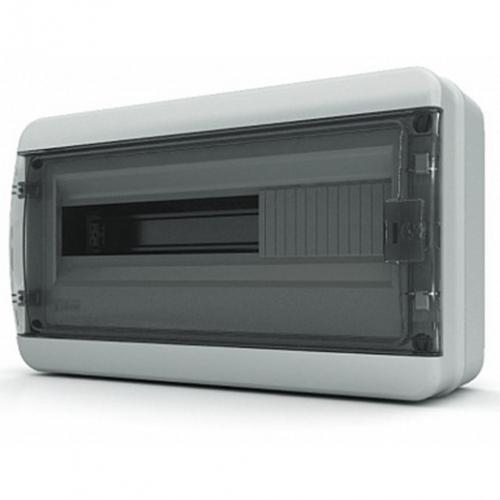 Бокс Tekfor серия B IP65 навесной 18М с прозрачной дверцей, серый