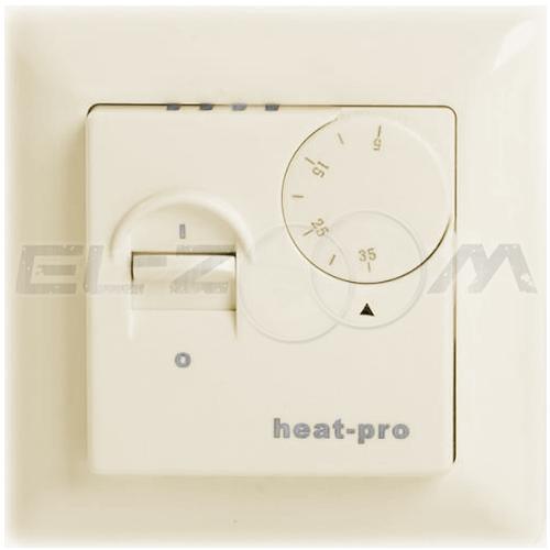 Терморегулятор механический для теплого пола HeatPro TC-41 крем