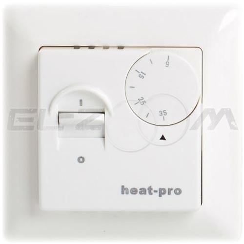 Терморегулятор механический для теплого пола HeatPro TC-41 белый