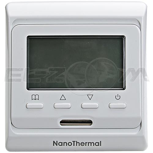 Терморегулятор электронный программируемый для теплого пола E51.716 белый