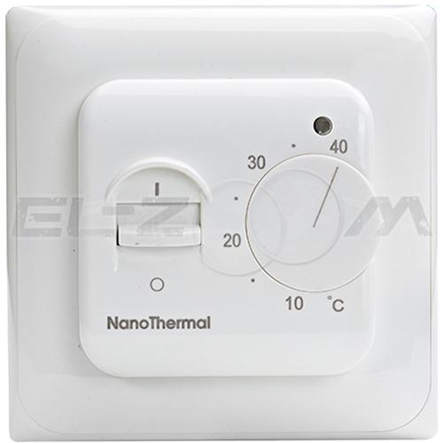 Терморегулятор механический для теплого пола Nanothermal M-102 белый
